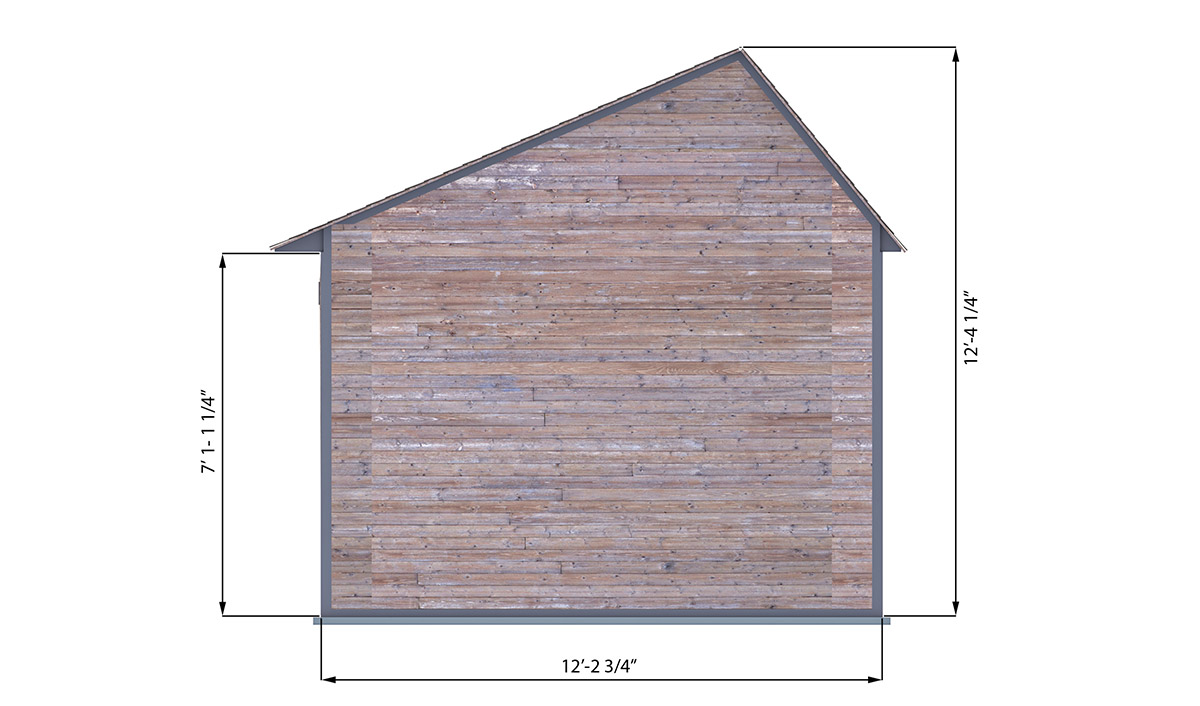 10x12 office shed back side preview