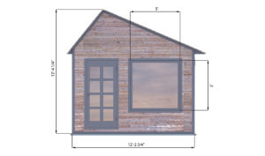 10x12 office shed front side preview