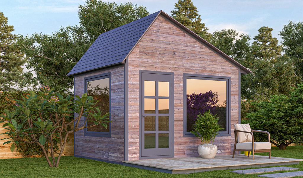 10x12 office shed in the backyard