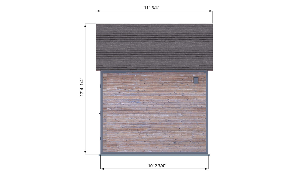 10x12 office shed right side preview