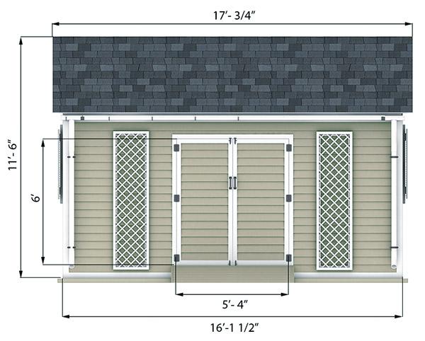 12x16 Shed Plan Size