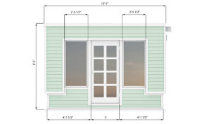 8x12 office shed front side preview