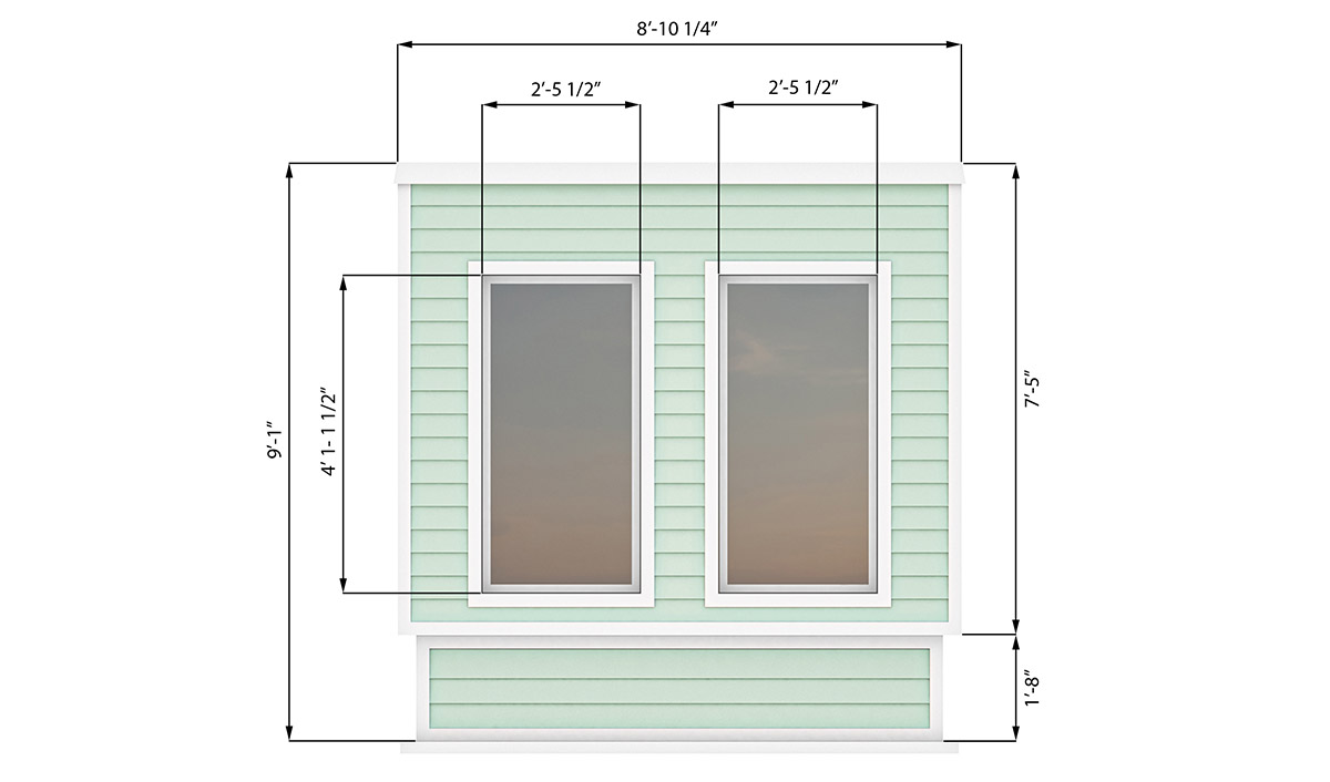 8x12 office shed left side preview