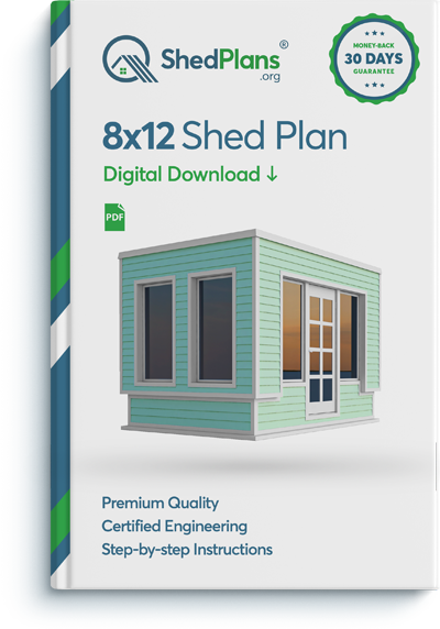 8x12 office shed plan