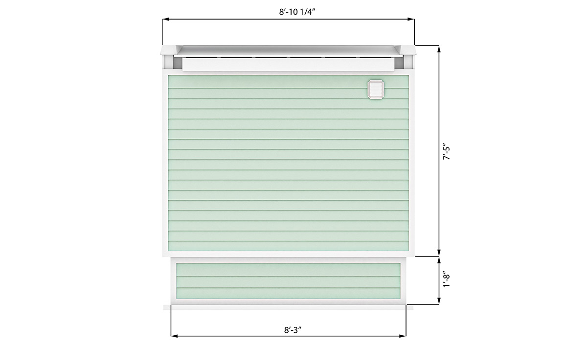8x12 office shed right side preview