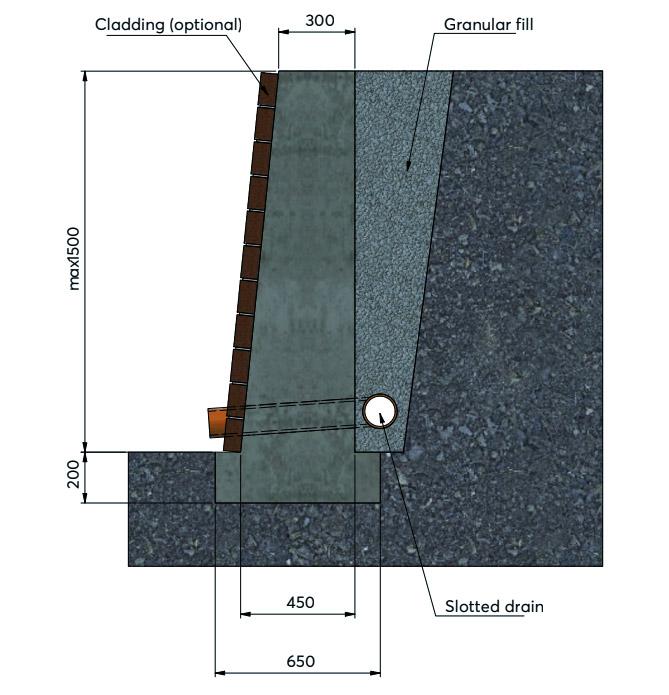 Retaining Wall Type Base