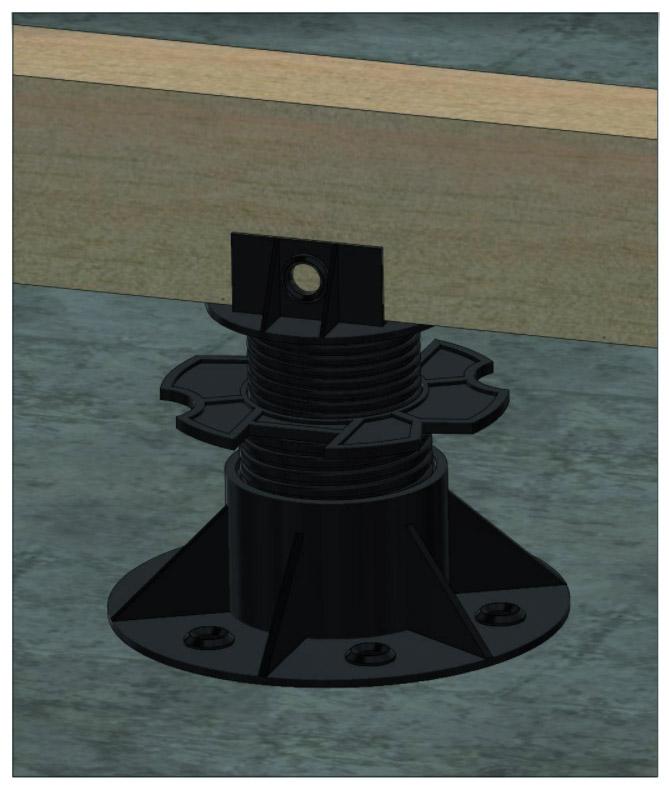 Adjustable plastic base