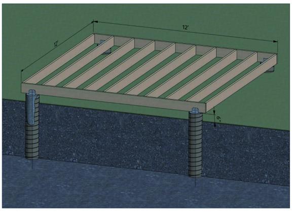 concrete pier foundation