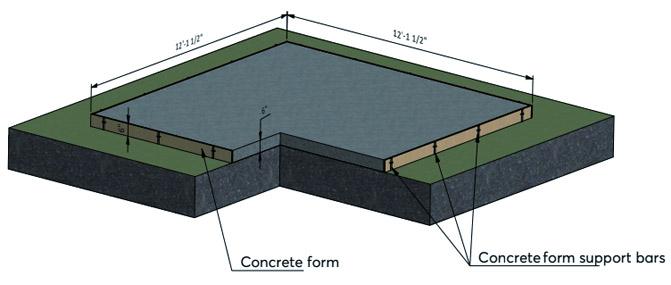 Floating-slab foundation