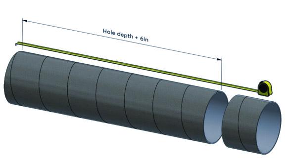 preparing concrete pour tubes
