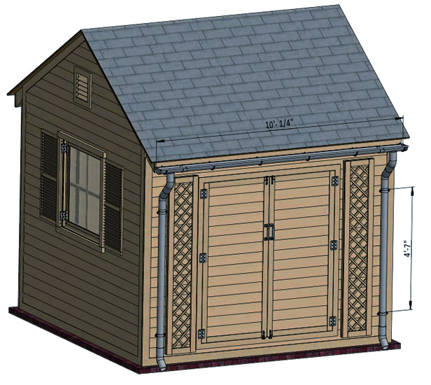 shed roof drainage system