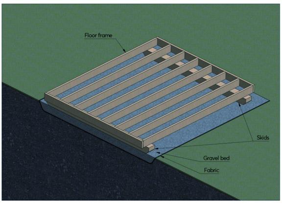 skid foundation layout