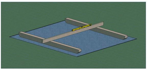 skids leveling for shed foundation