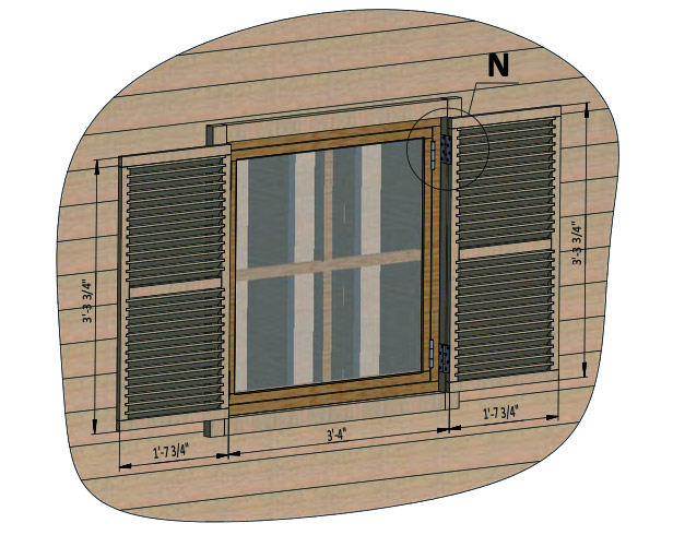 install shed window shutters