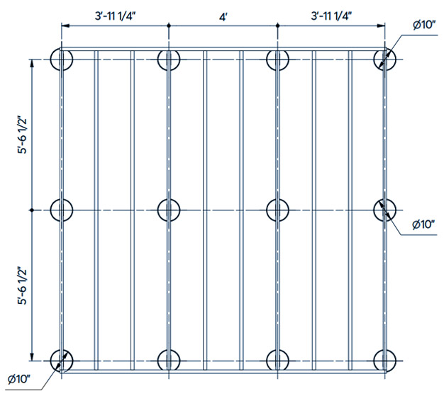 concrete pier foundation diagram