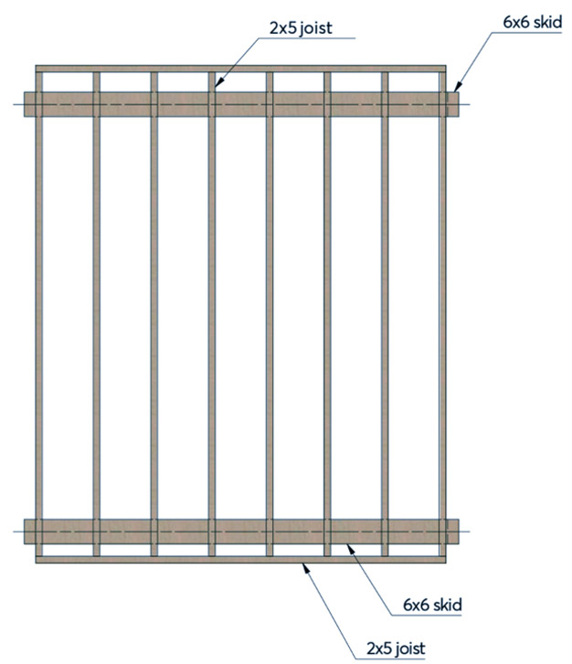 skid foundation diagram