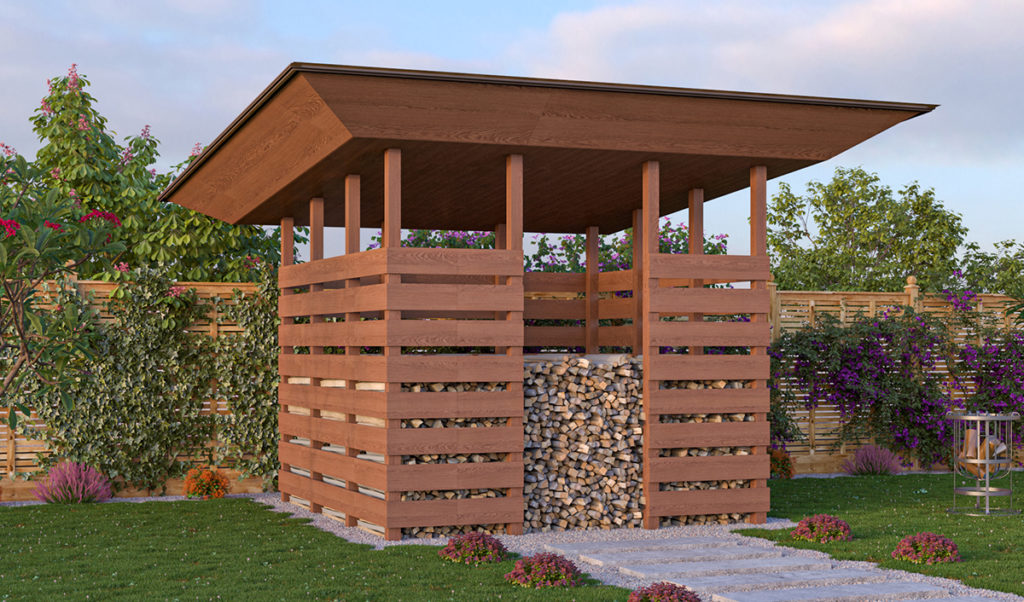10x10 firewood shed preview