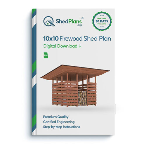 10x10 firewood shed product