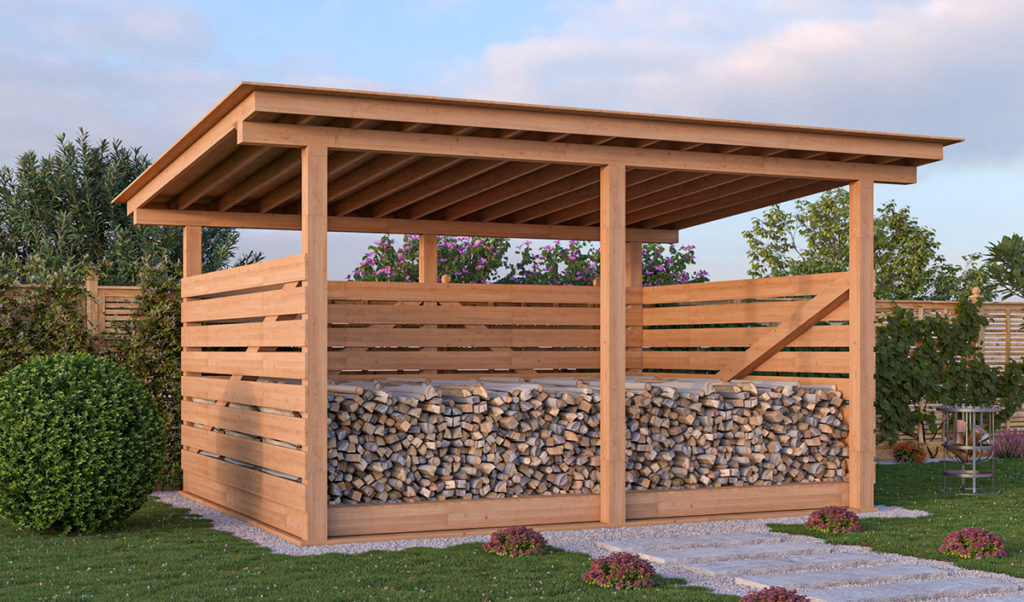 12x16 firewood shed preview