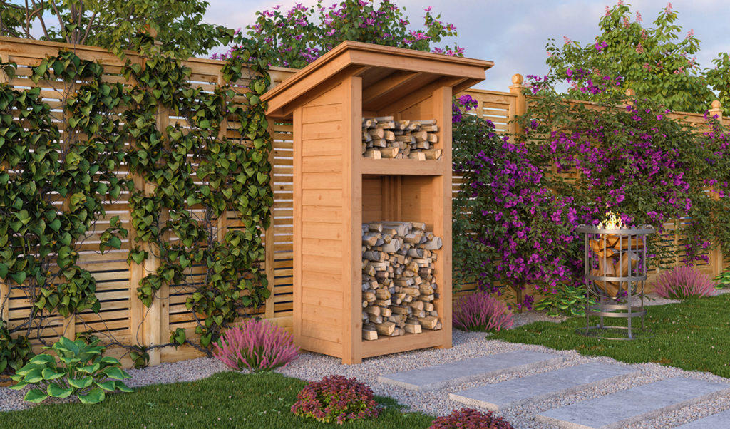 2x3 firewood shed preview
