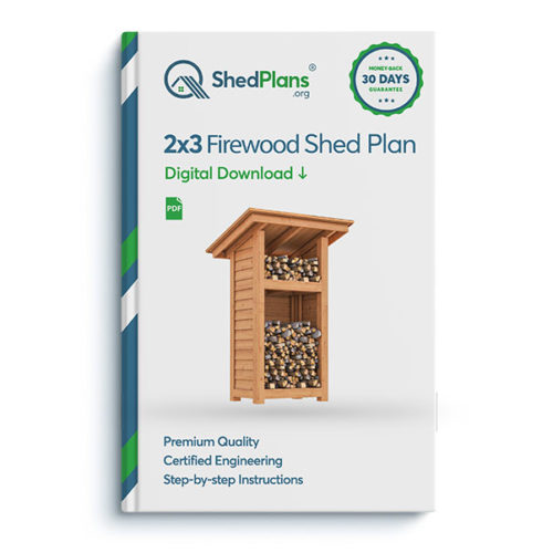 2x3 firewood shed product