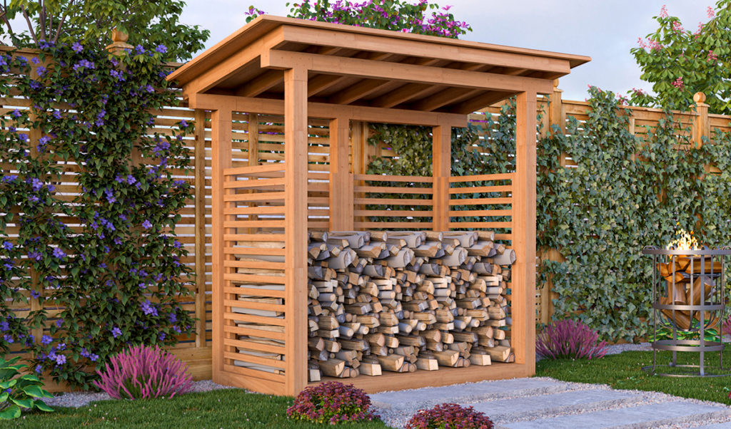 3x6 firewood shed preview