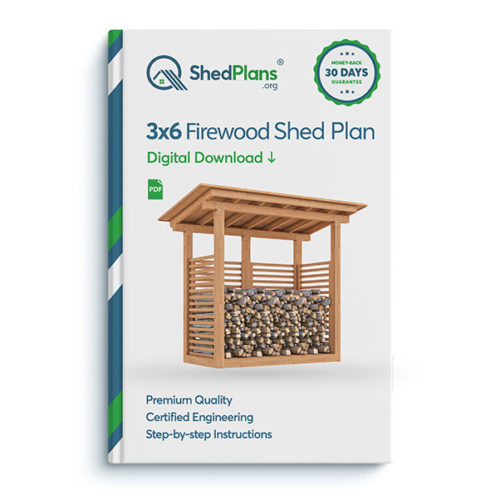 3x6 firewood shed product