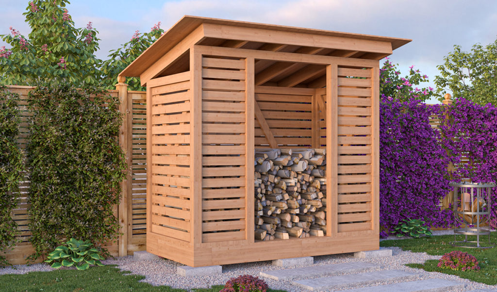 4x8 firewood shed preview