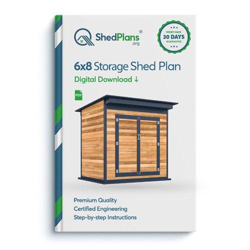 6x8 storage shed product box
