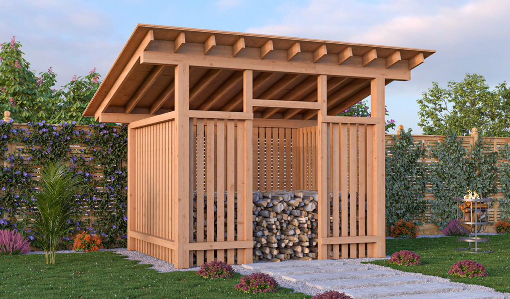8x10 firewood shed preview