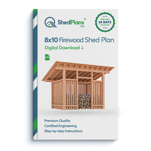 8x10 firewood shed product box