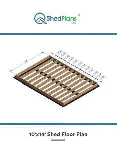 10x14 shed floor plan