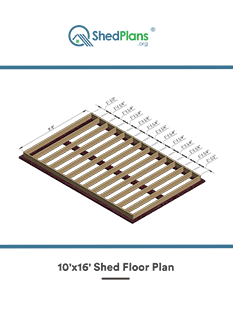 10x16 shed floor plan