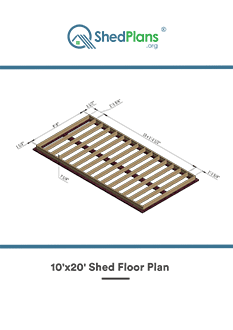 10x20 shed floor plan