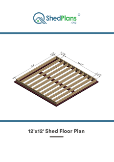 12x12 shed floor plan