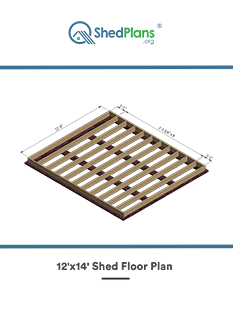 12x14 shed floor plan