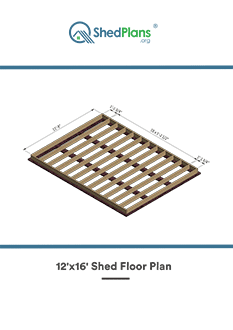 12x16 shed floor plan