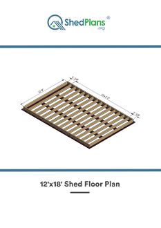 12x18 shed floor plan