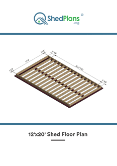12x20 shed floor plan