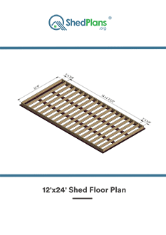 12x24 shed floor plan