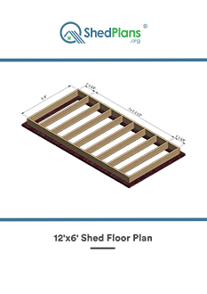 12x6 shed floor plan