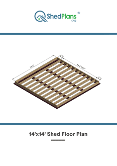 14x14 shed floor plan