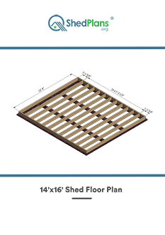 14x16 shed floor plan