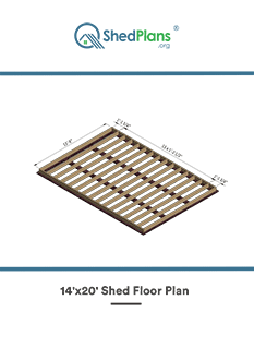 14x20 shed floor plan