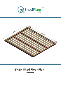 16x20 shed floor plan