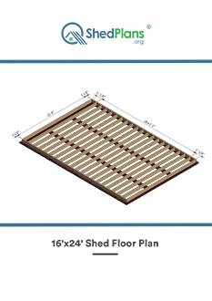 16x24 shed floor plan