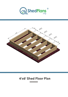 4x6 shed floor plan