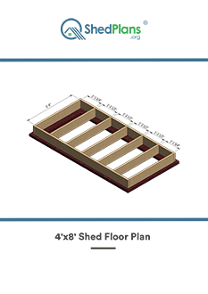 4x8 shed floor plan