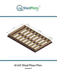 6x10 shed floor plan