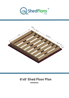 6x8 shed floor plan